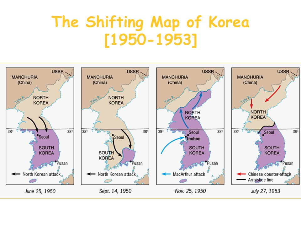 The Shifting Map of Korea [1950-1953]
